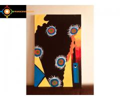 Tableau de peinture inspiration Kandinsky