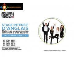 Cours d'Anglais Intensifs pour les Adultes Débutants à l'Avancé Institut Americain Temara