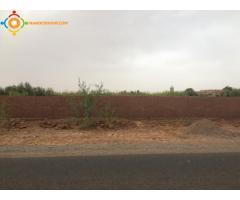 Terrain 2200 m2 à Marrakech Route de Fès titré / CADASTRE