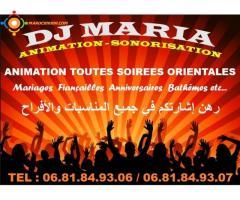 Dj femme  Maria منشطة الحفلات والاعراس