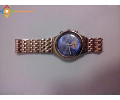 Montre Swatch BLUE WIN Unisex en Inox Rosé