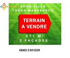 Terrain zone villa à vendre : Targa : Marrakech