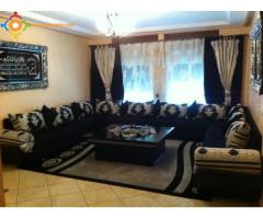 salon contemporain marocain complet
