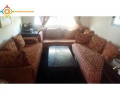 Salon Moderne + Tapis + Table + fauteuil