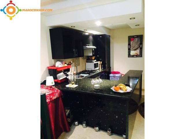appartement meubl haut standing vendre bikhir annonce. Black Bedroom Furniture Sets. Home Design Ideas