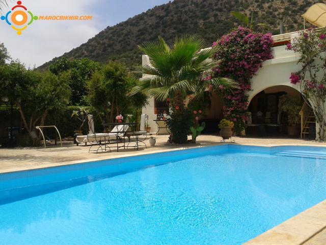 Location villa agadir avec piscine et jardin bikhir for Location villa avec piscine agadir