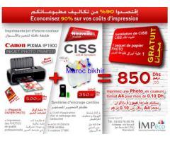 Pack Imprimante CANON Pixma IP1900 + CISS Système