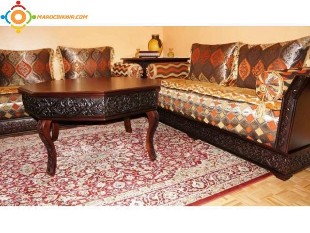 Salon de bois artisanal bikhir annonce bon coin maroc - Bon coin salon marocain particulier ...