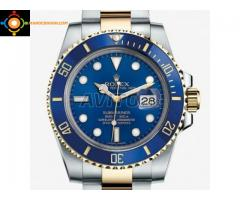 Montre Rolex Fond bleu bicolor neuve