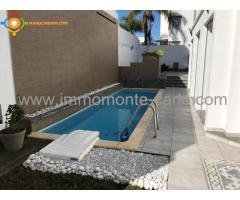À louer villa neuve haut standing avec piscine Hassan