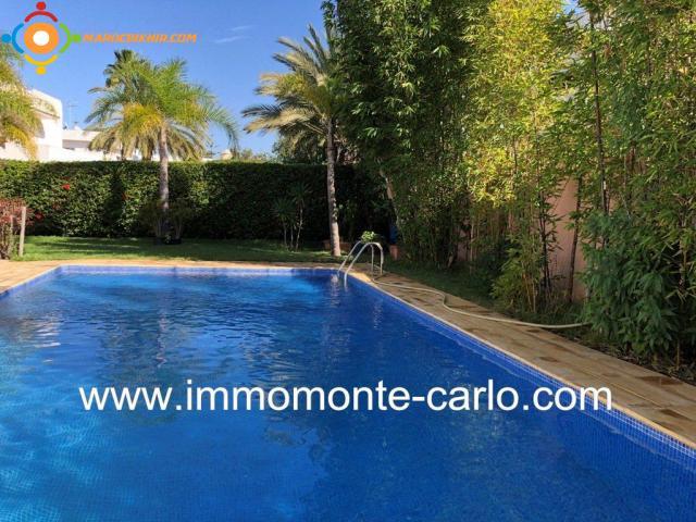 Très belle villa avec piscine à  louer à Souissi