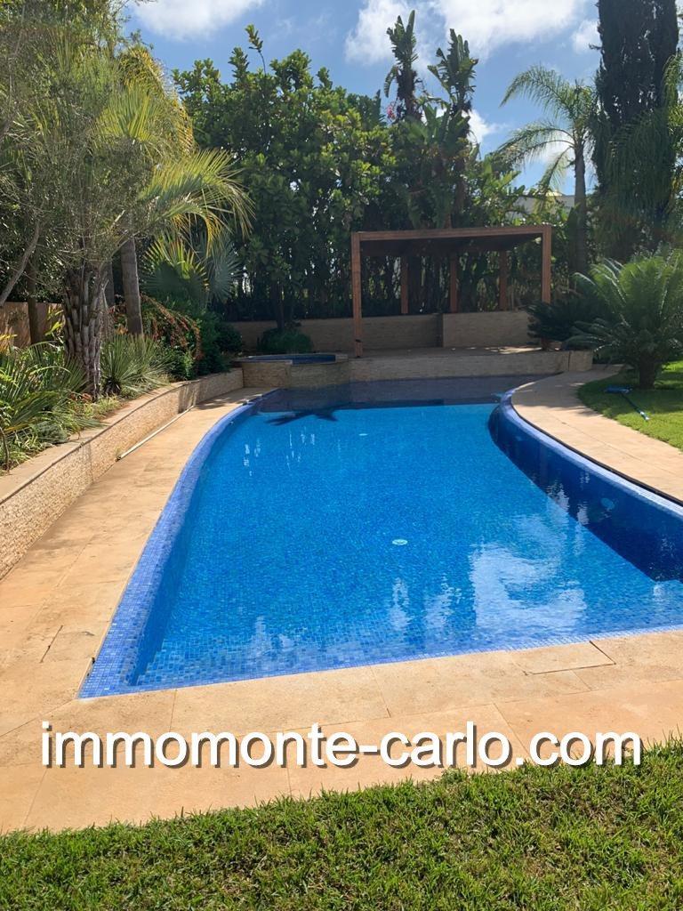 Villa de luxe meublée à Rabat au quartier Souissi