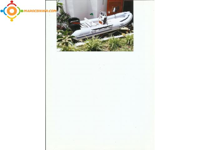 Vente Semi-Rigide Marque Lomac avec Remorque et Moteur Mercury 50 CV