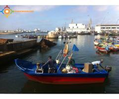 barque pêche avec role